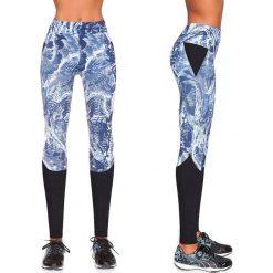 Spodnie damskie: Bas Black Legginsy damskie Trixi biało-niebieskie r. L