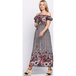 Sukienki: Czarno-Granatowa Sukienka Flower Garden