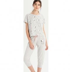 Dwuczęsciowa piżama Snoopy - Jasny szar. Czarne piżamy damskie marki Reserved, l. Za 59,99 zł.