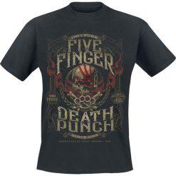 Five Finger Death Punch 100 Proof T-Shirt czarny. Czarne t-shirty męskie z nadrukiem marki Five Finger Death Punch, l, z okrągłym kołnierzem. Za 74,90 zł.