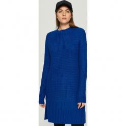 Swetrowa sukienka - Niebieski. Niebieskie sukienki marki Sinsay, m. Za 79,99 zł.