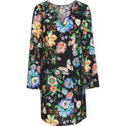 Sukienki hiszpanki: Sukienka bonprix czarny w kwiaty