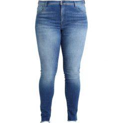 Only Carmakoma CARCARMA ANK FOLD RAW Jeansy Slim Fit medium blue denim. Niebieskie rurki damskie Only Carmakoma. Za 209,00 zł.