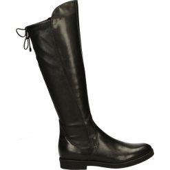 Kozaki - 7116 308 NERO. Czarne buty zimowe damskie marki Venezia, z materiału, na obcasie. Za 349,00 zł.
