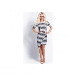 Sukienka gillyflower zebra. Szare sukienki asymetryczne Cocoviu, do pracy, xl, z motywem zwierzęcym, biznesowe, z asymetrycznym kołnierzem. Za 69,00 zł.