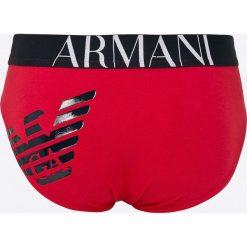 Emporio Armani - Slipy. Szare slipy męskie marki Emporio Armani, l, z nadrukiem, z bawełny, z okrągłym kołnierzem. W wyprzedaży za 99,90 zł.