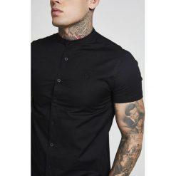 Koszule męskie na spinki: SIKSILK GRANDAD SLEEVE FITTED Koszula black