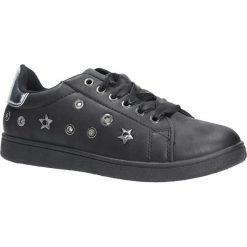 Czarne buty sportowe z nitami sznurowane Casu 8927. Czarne buty sportowe damskie marki Casu. Za 49,99 zł.
