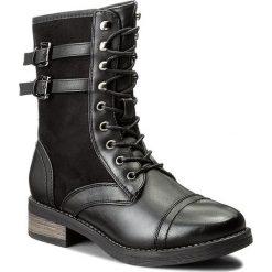 Botki JENNY FAIRY - WS1155-5 Czarny 1. Czarne buty zimowe damskie marki Jenny Fairy, z materiału, na obcasie. Za 139,99 zł.
