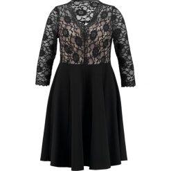 Sukienki hiszpanki: Evans SCALLOP FIT AND FLARE DRESS Sukienka koktajlowa black