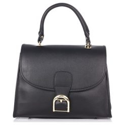 Torebki klasyczne damskie: Skórzana torebka w kolorze czarnym – (S)30 x (W)35 x (G)14 cm