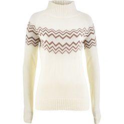 Swetry klasyczne damskie: Sweter bonprix kremowo-matowy brązowy