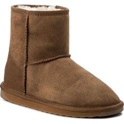 Buty EMU AUSTRALIA - Stinger Mini W10003 Chestnut. Brązowe buty zimowe damskie marki EMU Australia, z gumy. Za 639,00 zł.