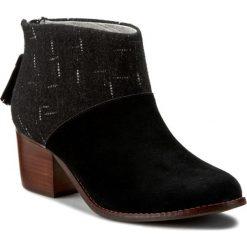 Botki damskie lity: Botki TOMS - Leila 10008897 Black Suede/Dotted Wool