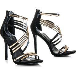 Szpilki: Czarne sandały szpilki  MADILYN