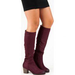 ZAMSZOWE KOZAKI VINCEZA. Czerwone buty zimowe damskie Vinceza, z zamszu. Za 179,00 zł.