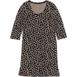 Koszule nocne i halki: Koszula nocna bonprix czarno-brunatny wzorzysty