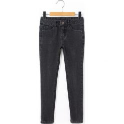 Jeansy skinny 10-16 lat. Czarne spodnie chłopięce La Redoute Collections, z bawełny, z standardowym stanem. Za 70,52 zł.