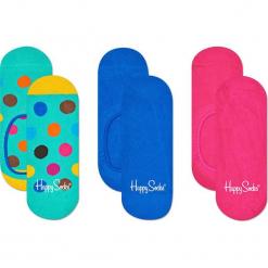 Happy Socks - Stopki Big Dot (3-pak). Niebieskie skarpetki damskie Happy Socks, z bawełny. Za 69,90 zł.