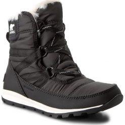 Śniegowce SOREL - Whitney Short Lace NL2776 Black 010. Czarne buty zimowe damskie Sorel, z gumy. Za 529,99 zł.