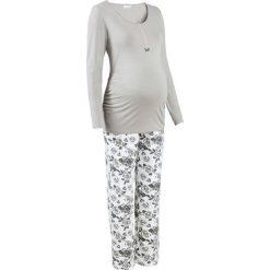 Piżama do karmienia piersią (2 części) bonprix szary z nadrukiem. Szare bielizna ciążowa bonprix, z nadrukiem. Za 89,99 zł.