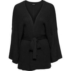 Sweter wiązany kimono bonprix czarny. Czarne swetry klasyczne damskie bonprix. Za 59,99 zł.