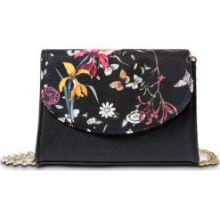 Torebki klasyczne damskie: Torebka na ramię w kwiaty bonprix czarny