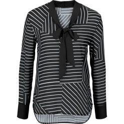Bluzki damskie: Bluzka bonprix czarno-biały w paski