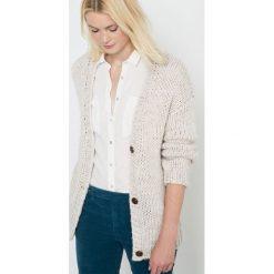 Rozpinany sweter. Białe kardigany damskie La Redoute Collections, z poliamidu. Za 188,96 zł.