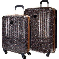 Walizki: Zestaw walizek w kolorze granatowym ze wzorem – 2 szt.