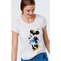Etam - Top piżamowy Sandy. Niebieskie piżamy damskie marki Etam, l, z bawełny. W wyprzedaży za 49,90 zł.
