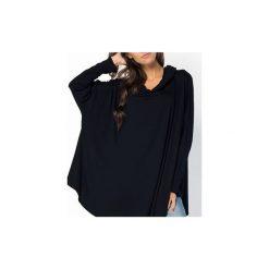 BLUZKA BLUZA MELANGE | OVERSIZE CZARNA. Czerwone długie bluzy damskie marki Meleksima, l, z materiału, midi, oversize. Za 125,30 zł.