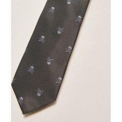 Krawaty męskie: Krawat z czaszką – Czarny