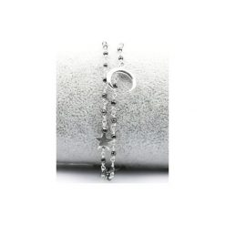 Bransoletki damskie na nogę: Bransoletka Spinel Metalizowany srebro
