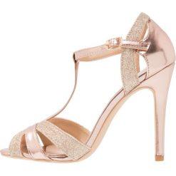 Rzymianki damskie: Glamorous Sandały na obcasie gold glitter