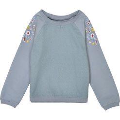 Bluzy dziewczęce rozpinane: Bluza haftowana z dwóch rodzajów materiału 3-12 lat