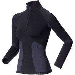 Odlo Koszulka tech. Odlo Shirt l/s  1/2 zip EVOLUTION WARM - 180981 - 180981XS. Czarne topy sportowe damskie Odlo, l. Za 319,95 zł.