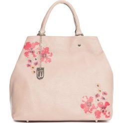 Torebki klasyczne damskie: Skórzana torebka w kolorze jasnoróżowym – 40 x 46 x 19 cm