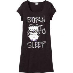 Bielizna nocna: Koszula nocna bonprix czarny - sowa