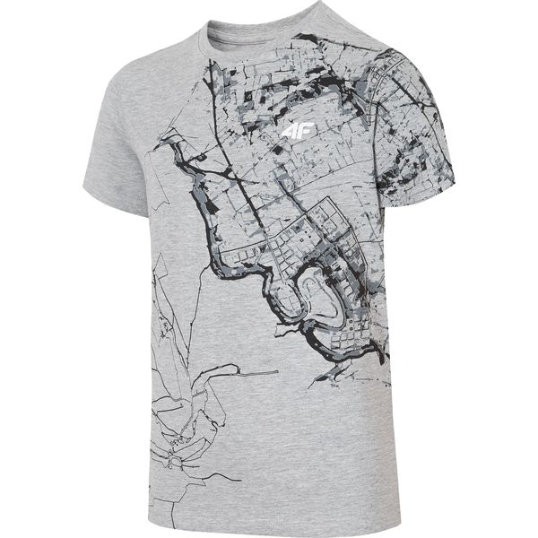 c1b3465b2 T-shirt chłopięcy (122-164) JTSM235 - szary melanż - Szare t-shirty ...
