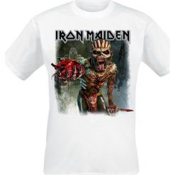 T-shirty męskie: Iron Maiden Ed Heart T-Shirt biały