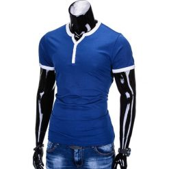 T-SHIRT MĘSKI BEZ NADRUKU S651 - NIEBIESKI. Niebieskie t-shirty męskie z nadrukiem Ombre Clothing, m. Za 29,00 zł.