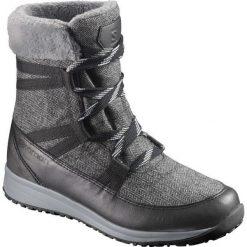 Buty trekkingowe damskie: Salomon Buty damskie Heika CS WP Black/Quarry/Alloy r. 38 (L39452300)