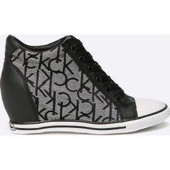 Calvin Klein Jeans - Buty Vero Jacquard. Szare buty sportowe damskie Calvin Klein Jeans, z jeansu. W wyprzedaży za 299,90 zł.