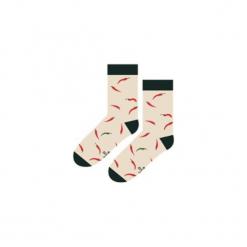Ostra Papryczka - Skarpety. Szare skarpetki męskie Sox in the box, w kolorowe wzory, z bawełny. Za 25,00 zł.