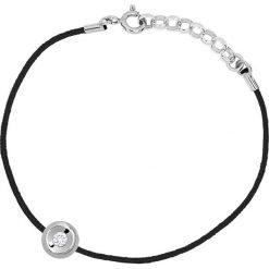 Bransoletki damskie na nogę: Bransoletka w kolorze czarnym z diamentem