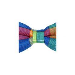 Mucha gotowa bowstyle Kolorowa kratka. Niebieskie muchy męskie Bowstyle, w kolorowe wzory, z tkaniny. Za 75,00 zł.