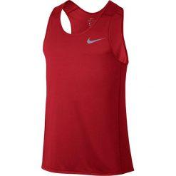 Koszulka do biegania męska NIKE DRI-FIT MILER TANK / 833589-602 - NIKE DRI-FIT MILER TANK. Czerwone t-shirty męskie Nike, m, do biegania, dri-fit (nike). Za 75,00 zł.