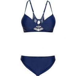 Stroje kąpielowe damskie: Bikini na fiszbinach (2 części) bonprix niebieski