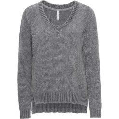 Sweter dzianinowy bonprix szary. Szare swetry klasyczne damskie bonprix, z dzianiny. Za 69,99 zł.